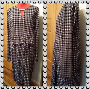 Michael Kors Geo print knit dress XL grey